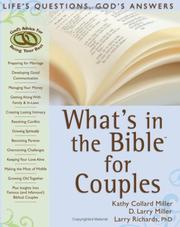 Cover of: Whats in the Bible for Couples: Lifes Questions, Gods Answers (What's in the Bible for You?)