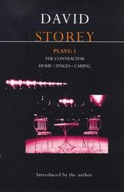 Cover of: Storey Plays 1 (Methuen World Dramatists) | David Storey
