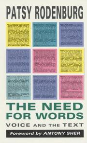 Cover of: Need for Words | Patsr Rodenburg