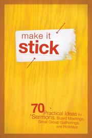 Cover of: Make It Stick | Group Publishing