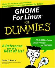 Cover of: GNOME for Linux for Dummies