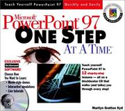 Cover of: Microsoft Powerpoint 97 One Step at a Time | Marilyn Gratton Kyd