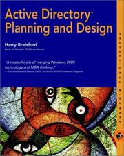 Cover of: Active Directory Planning and Design | Harry M. Brelsford