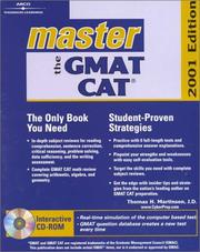 Cover of: Master the Gmat Cat