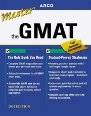 Cover of: Master the Gmat Cat 2001 (Master the Gmat)