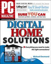 Cover of: PC Magazine Digital Home Solutions (PC Magazine) | Michael Desmond