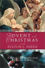 Cover of: Advent and Christmas With Fulton J. Sheen