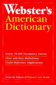 Cover of: Dic Webster's American Dictionary | Webster's