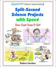 Cover of: Split-Second Science Projects With Speed | Robert Gardner