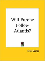 Cover of: Will Europe Follow Atlantis?