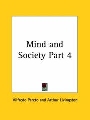 Cover of: Mind and Society, Part 4 | Vilfredo Pareto