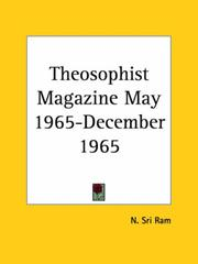 Cover of: Theosophist Magazine May 1965-December 1965