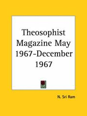 Cover of: Theosophist Magazine May 1967-December 1967