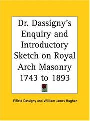 Cover of: Dr. Dassigny
