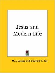 Cover of: Jesus and Modern Life | Crawford H. Toy