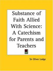 Cover of: Substance of Faith Allied with Science