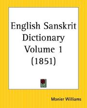 Cover of: English Sanskrit Dictionary, Part 1