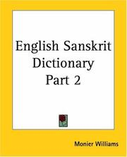 Cover of: English Sanskrit Dictionary, Part 2