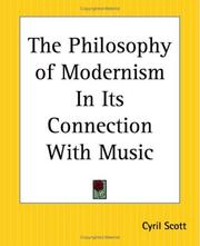 Cover of: The Philosophy Of Modernism In Its Connection With Music