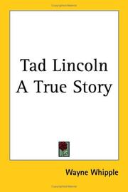Cover of: Tad Lincoln A True Story