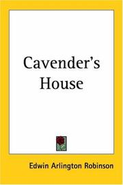 Cover of: Cavender's house
