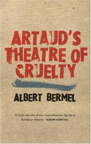 Cover of: Artaud's theatre of cruelty
