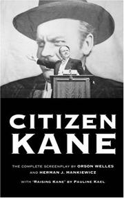 Cover of: Citizen Kane (Methuen Film)