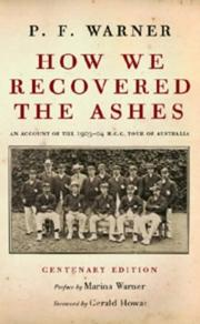 Cover of: How We Recovered the Ashes