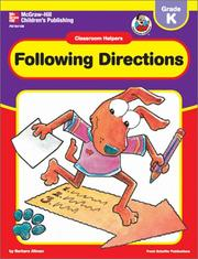 Cover of: Following Directions (Classroom Helpers)