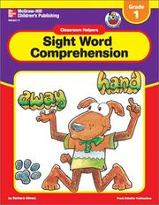 Cover of: Sight Word Comprehension