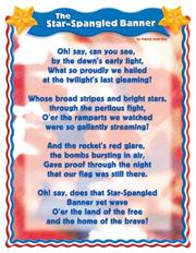 Star Spangled Banner Cheap Chart