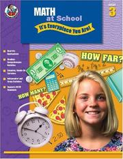 Cover of: Math at School, Grade 3 | School Specialty Publishing