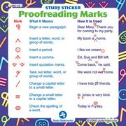 Cover of: Proofreading Marks Study Stickers | School Specialty Publishing