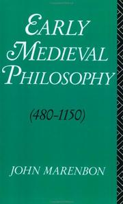 Cover of: Early medieval philosophy (480-1150)