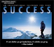 Cover of: Success 2002 Calendar (Daily Calendars) |