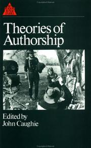 Cover of: Theories of Authorship | John Caughie