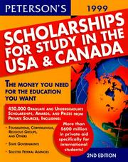 Cover of: Peterson's 1999 Scholarships for Study in the USA & Canada