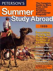 Cover of: Summer Study Abroad 1999 | Peterson