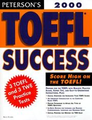 Cover of: Peterson's Toefl Success 2000 by Peterson's