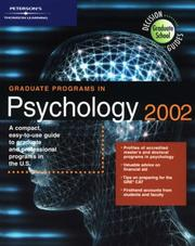Cover of: DecisionGd:GradPrg Psych 2002 (Graduate Programs in Psychology, 2002) | Peterson