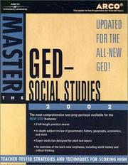 Cover of: Master the GED Social Studies 2002 | Arco