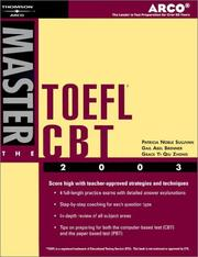 Cover of: Arco Master the TOEFL CBT 2003