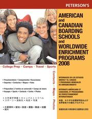 Cover of: American Canadian Board Sch 2008 (American and Canadian Boarding Schools and Worldwide Enrichment Programs) by Peterson's