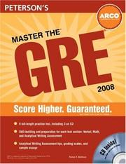 Cover of: Master the GRE 2008
