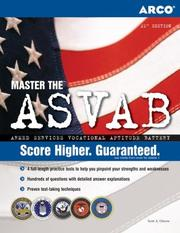 Cover of: Master the ASVAB: Armed Services Vocational Aptitude Battery