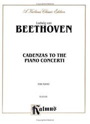 Cover of: Cadenzas to the Piano Concerti