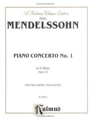 Cover of: Mendelssohn Piano Concerto #1
