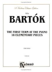 Cover of: Bartok First Term at the Piano