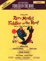 Cover of: Selections from Fiddler on the Roof