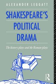 Cover of: Shakespeare's Political Drama